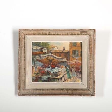 St Tropez Flower Market by Antonin Puzenat 1941 WD288526