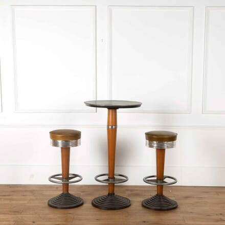 Swivel Topped Bar Stools and Table ST538201