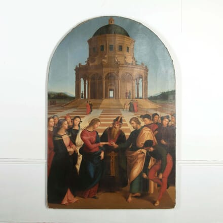 The Marriage of the Virgin after Raphael Oil on Canvas WD288532