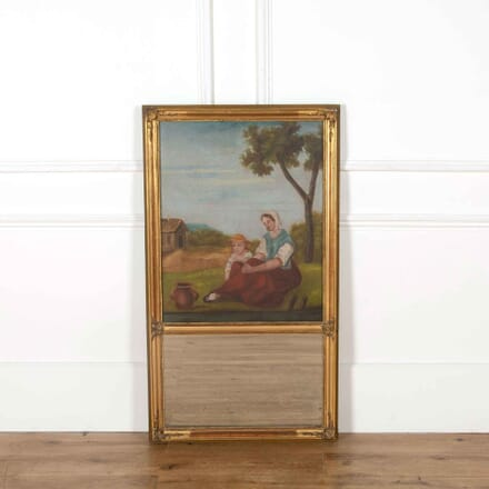 19th Century French Gilt Trumeau Mirror MI358075
