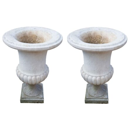 Pair of Regency Carrera Marble Urns of Campana Form GA4255472