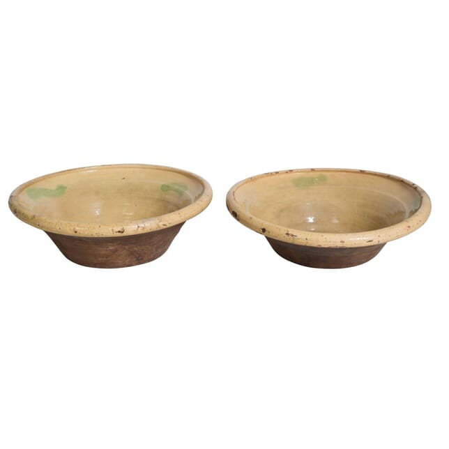 Pair Of Large Glazed Dairy Bowls DA4011971