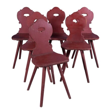 Six Tyrolean Dining Chairs CD4359490