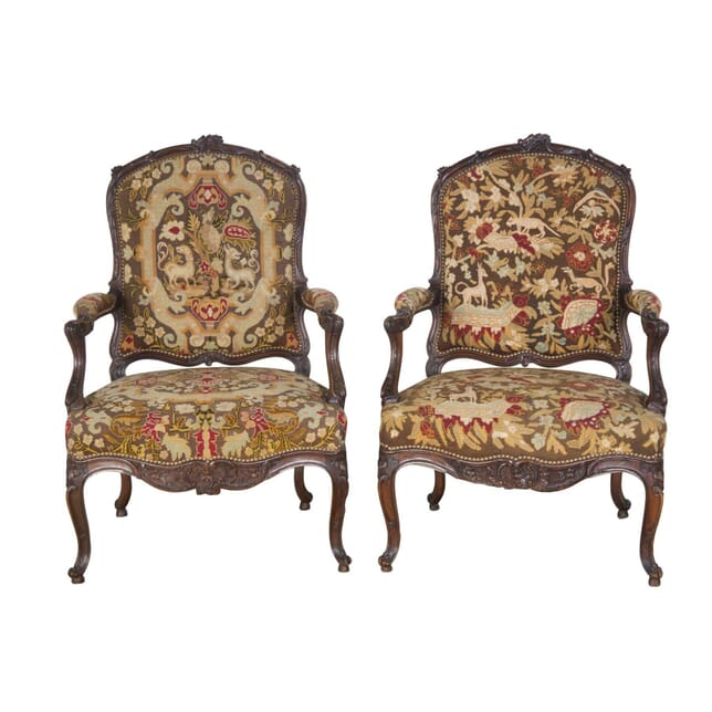 Pair of French Tapestry Chairs CH5256762
