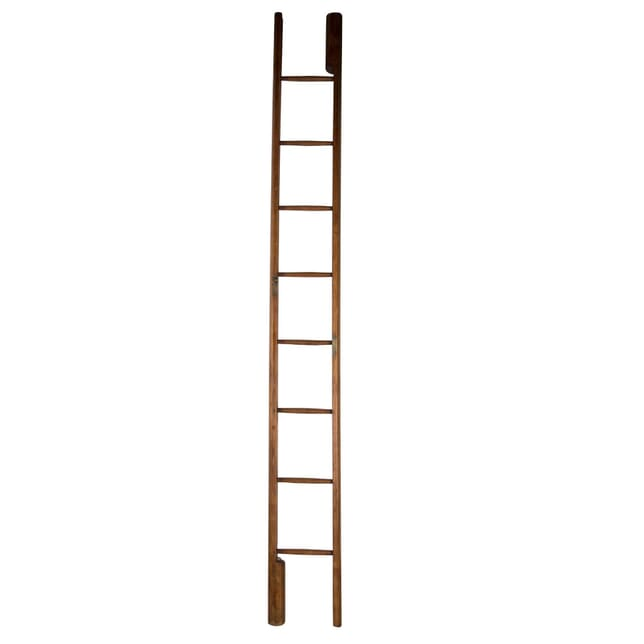 19th Century Pine Library Pole Ladder OF0360718