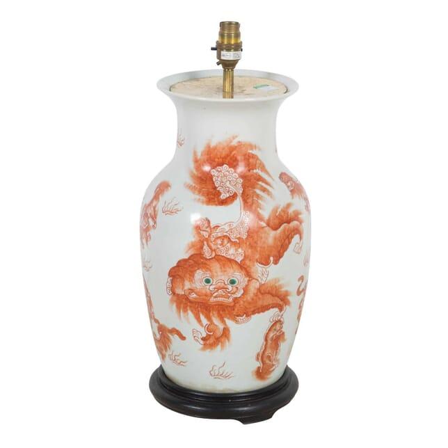 Chinese Lamp Vase LT4711916