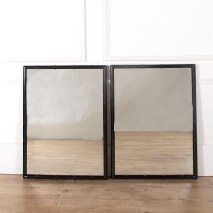 Large Pair of Ebonised Faux Bamboo Mirrors MI6361285