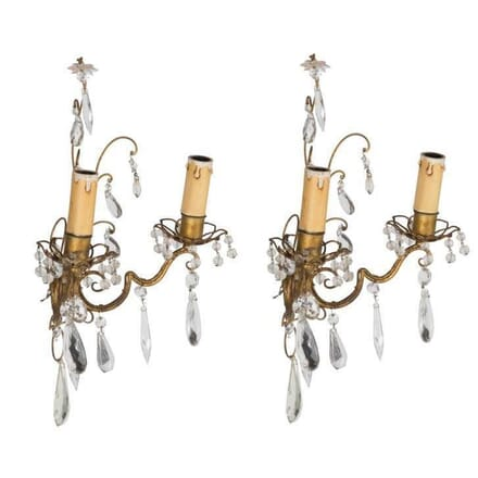 Pair of Maison Bagues style Wall Lights LW4810984