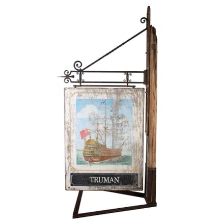 Truman Pub Sign and Frame WD408925
