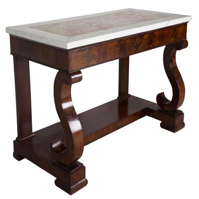 19th Century Italian Mahogany Console Table CO069208