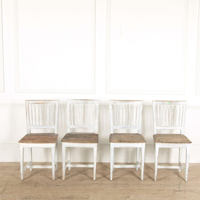 Four 19th Century Provincial Swedish Dining Chairs CD907669