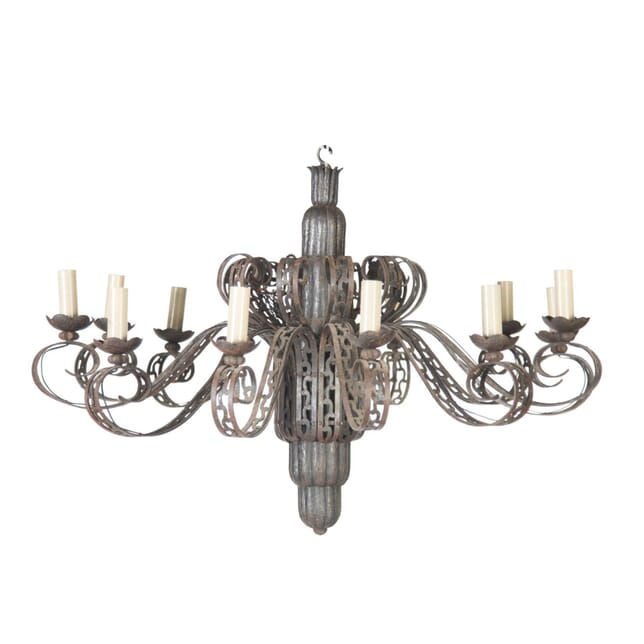 20th Century Wrought Iron Chandelier LC5456695