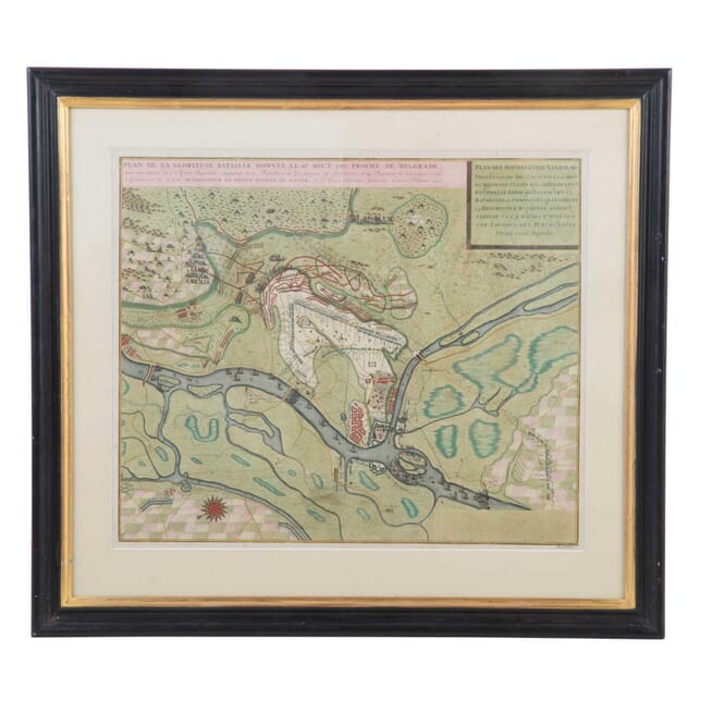 Plan De La Glorieuse Bataille Hand Coloured Map WD0112830