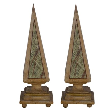 Pair of 19th Century Italian Wooden Obelisks DA356981