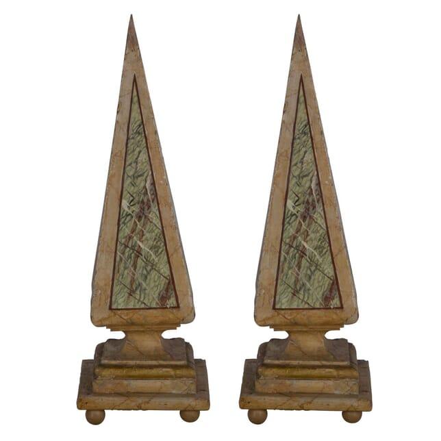 Pair of 19th Century Italian Wooden Obelisks DA356981