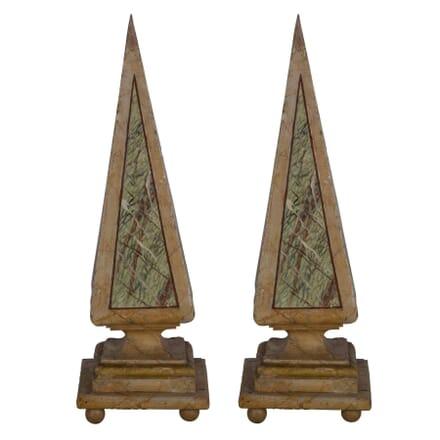 Pair of Wodden Obelisks DA356981