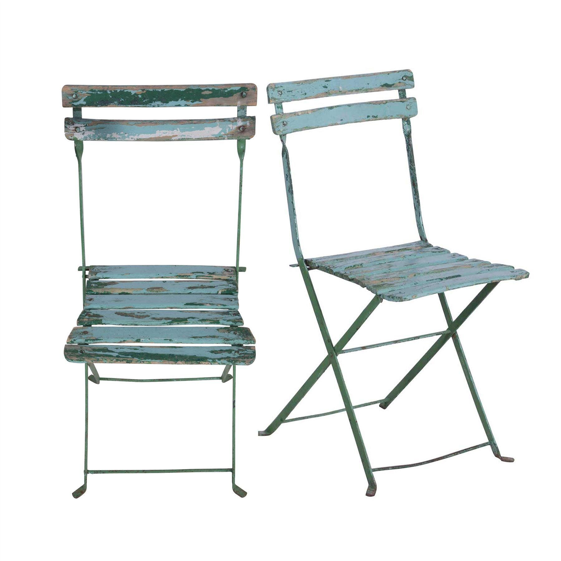 Pair Of French Folding Bistro Chairs