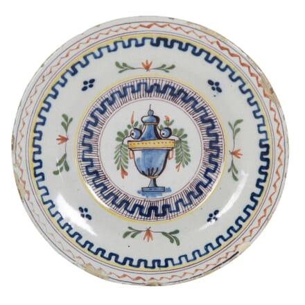 18th Century Tin Glazed Plate DA0153913