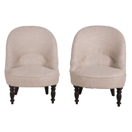 Smart Pair of French Crapaud Chairs CH6359744