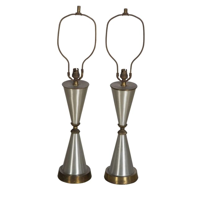 Pair of Aluminium and Brass Table Lamps LT2311139