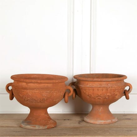 Pair of Decorative Terracotta Planters GA157709
