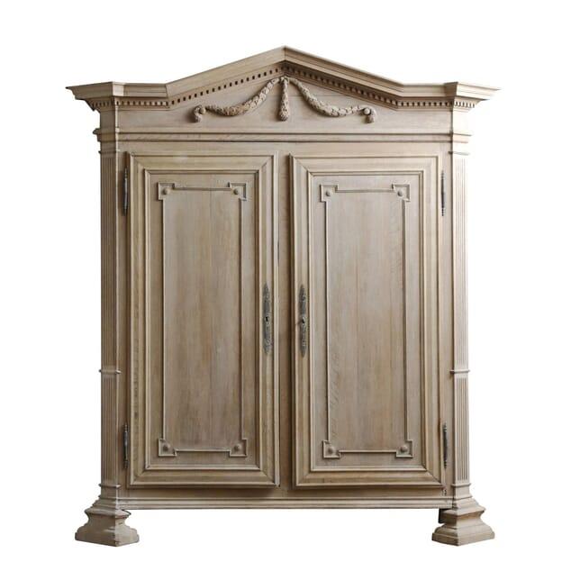 Neo-Classical Oak Bleached Armoire CU127456