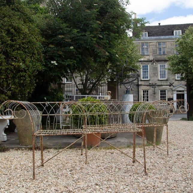 Pair of Wirework Garden Benches GA4261455
