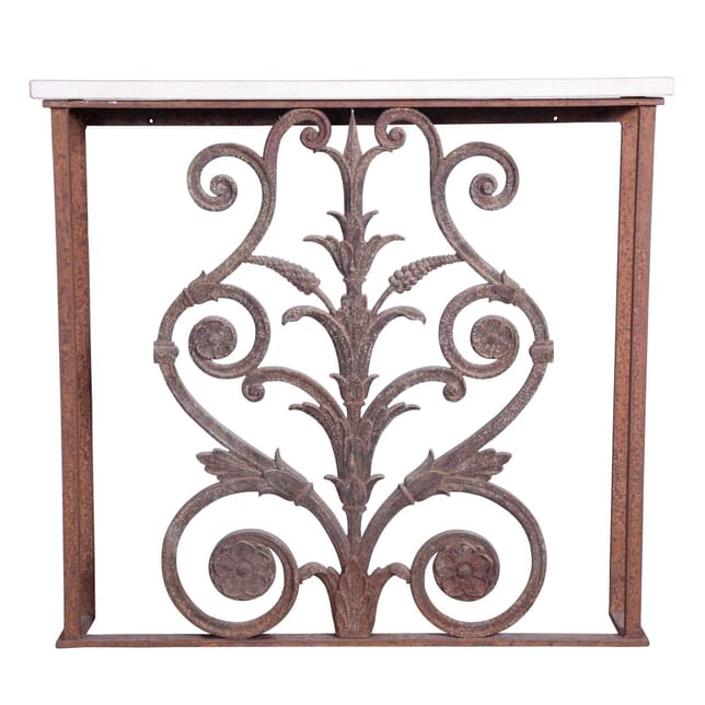 Wrought and Cast Iron Console Table CO4359491