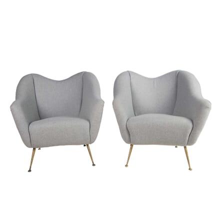 Pair of 1950s Italian Armchairs CH5756375
