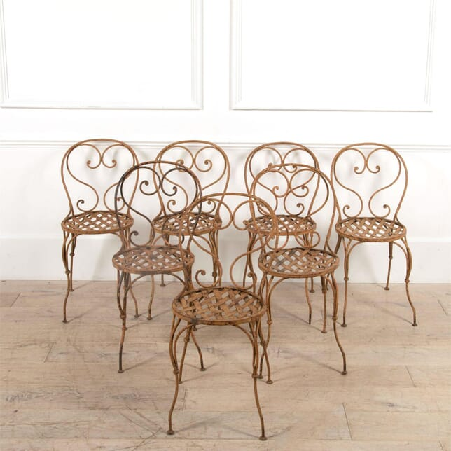 Italian Iron Decorative Garden Chairs CH4461511