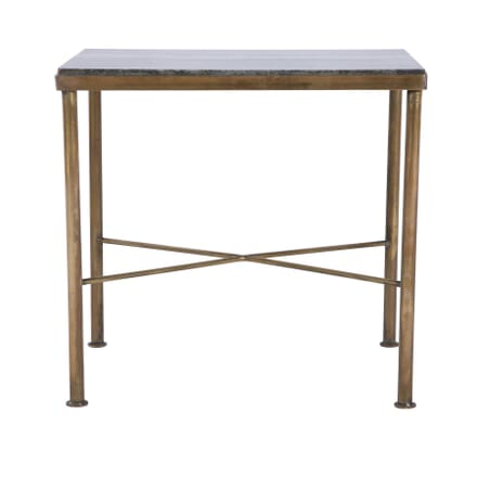 French Art Deco Gilded Brass And Marble Side Table CO5859853