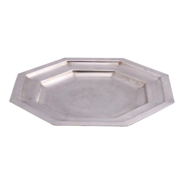 Octagonal Silver Plate Tray DA151336
