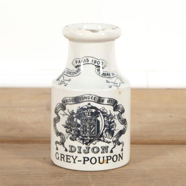 White Small French Dijon Mustard Jar with Writing DA4461553