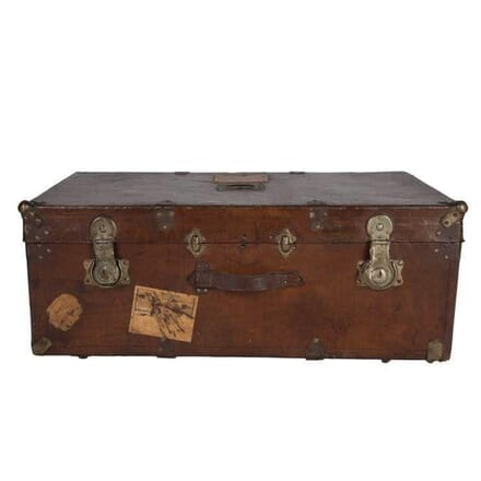 French Leather Travelling Trunk OF9057229