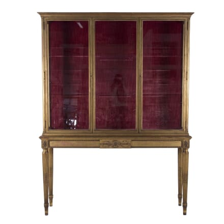 Slender Gilt Display Cabinet with Shell Collection BK7260195
