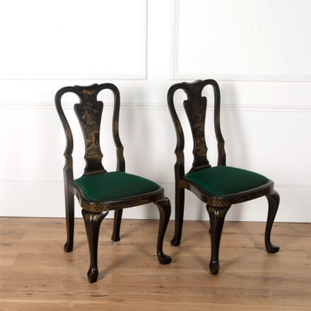 Chinoiserie Japanned Side Chairs CH4561923