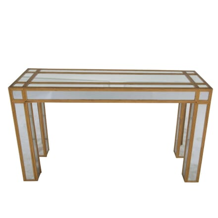 Bamboo and Mirror Console Table CO7460493
