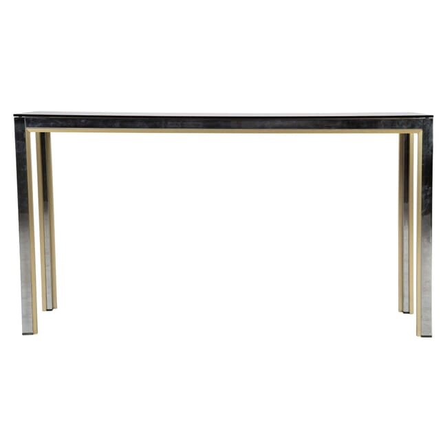 Brass and Chrome Console Table CO0112363