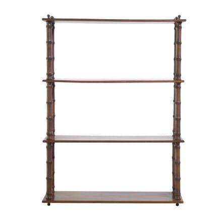 Regency Mahogany Hanging Wall Shelves OF9957351