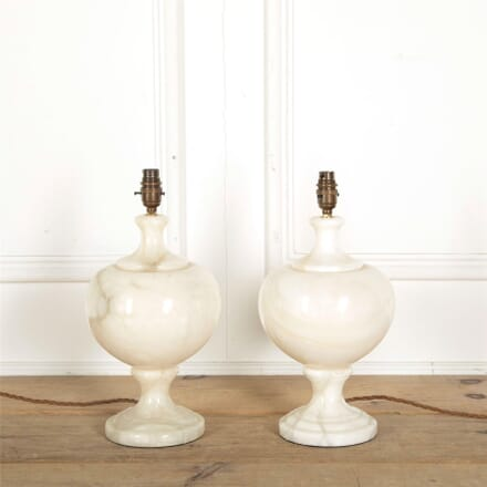 Pair of Alabaster Table Lamps LT157490