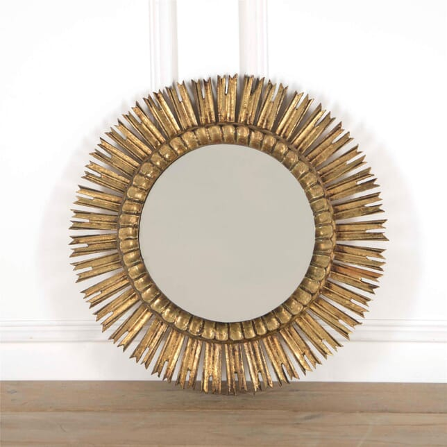 Mid-century Gilt Wood Sunburst Mirror MI6361736