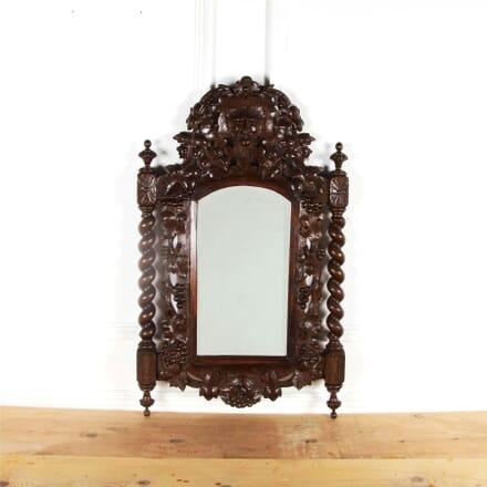 19th Century Provençal Carved Barley-Twist Mirror MI5960995