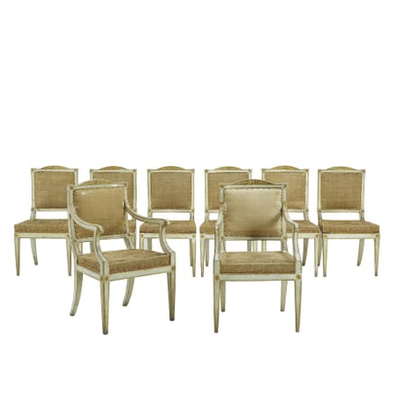 Set of Eight Painted 18th Century Italian Dining Chairs CD067629