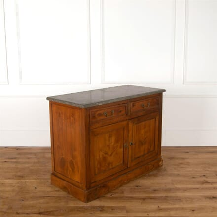 19th Century French Buffet in Fruitwood with Interesting Grey Granite Top BU287355