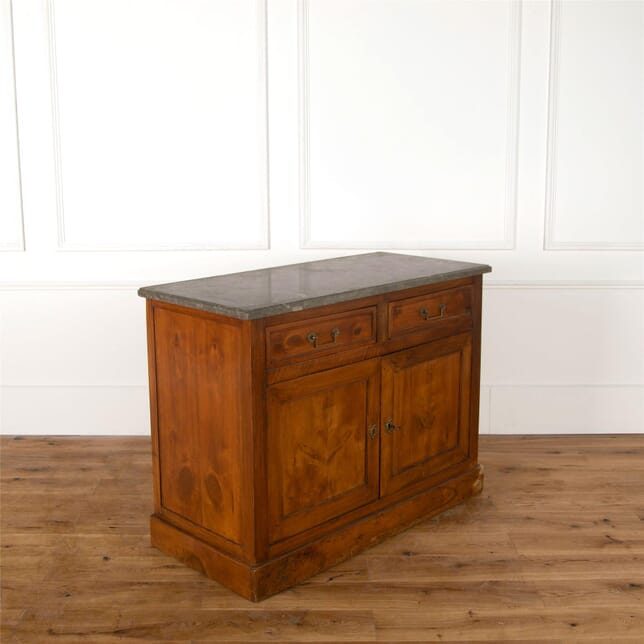 19th Century French Buffet with Grey Granite Top BU287355