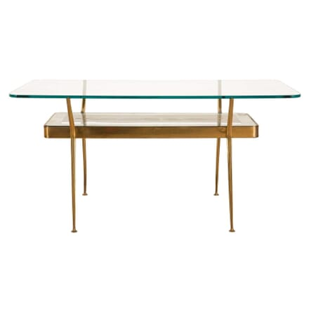 Brass Two Tier Table by Cesare Lacca TC3059529