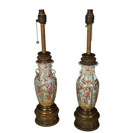 Pair of Chinese Famille Rose Table Lamps LT1358715