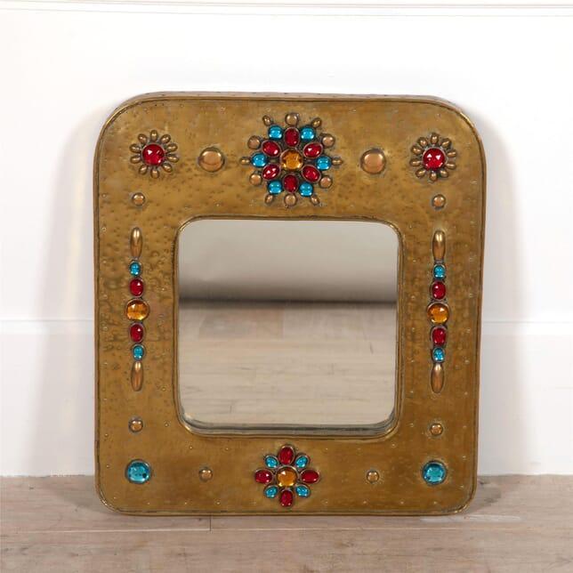Rectangular 70's Jewelled Mirror MI2962125