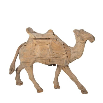 19th Century Carved Wood Camel GA2360973
