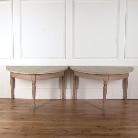 A Pair of Painted Demi Lune Tables CO4361979